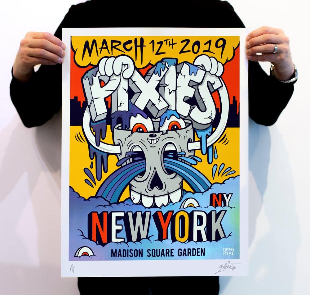 "Image of ""PIXIES NYC"" ARTIST PRINT (RAINBOW FOIL EDITION)"