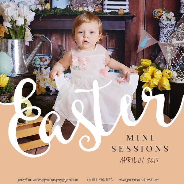 Image of Easter / Spring Mini Session Indoor Home Studio DEPOSIT