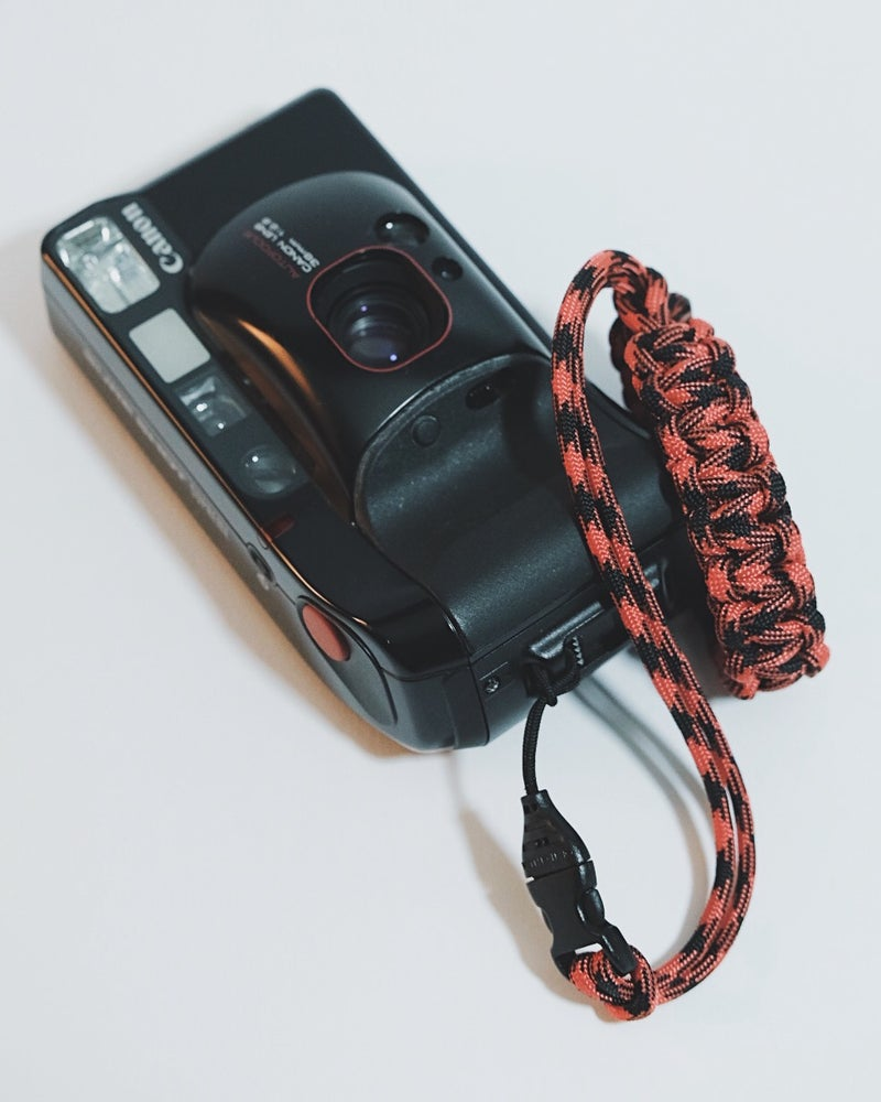 Image of Single strap camera wrist strap with buckle & nylon cord loop