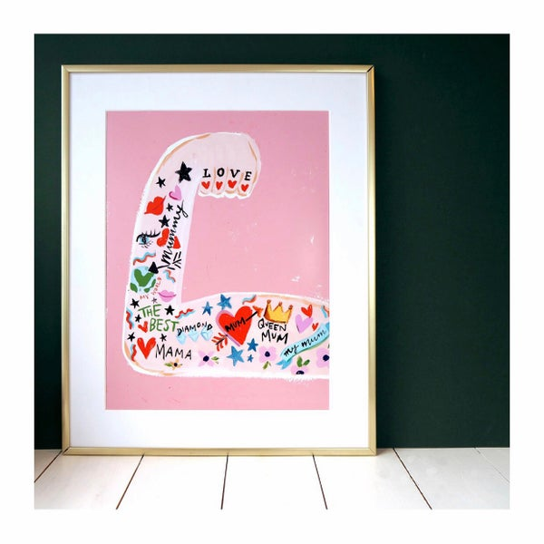 Image of Mum strong arm A4 print
