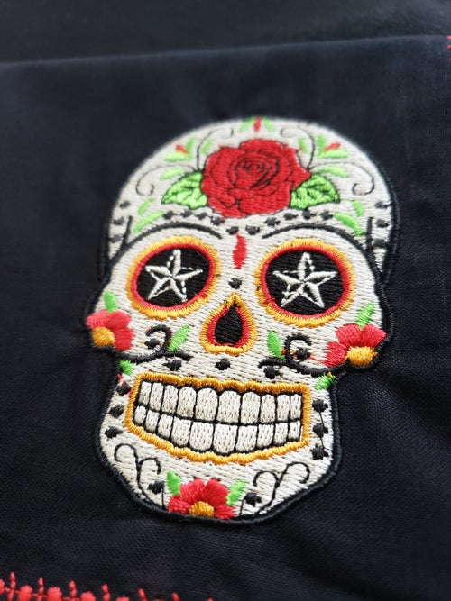 Image of Scandalous Skulls Embroidered