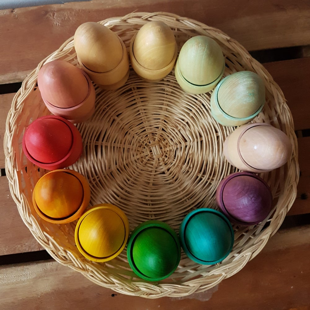 Image of Rainbow Egg/Cup Puzzle Set
