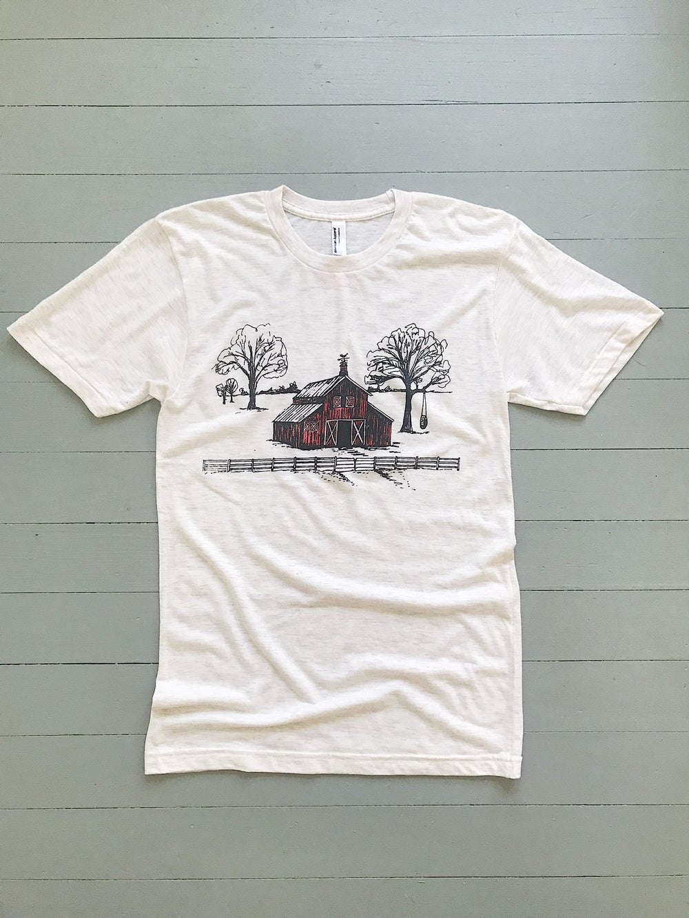 Image of Adult Red Barn Short Sleeve Tee