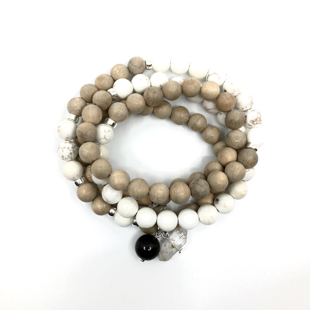 Image of Sun II Triple Wrap Wrist Mala