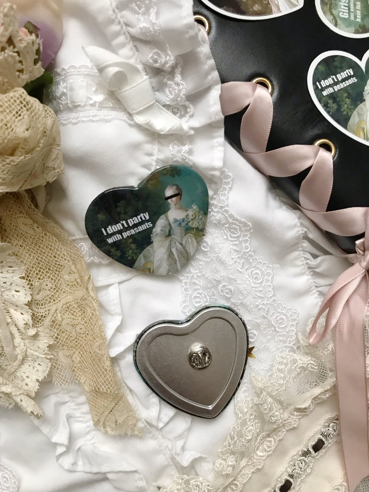 Image of Rosés of Versailles - Buttons PREORDER