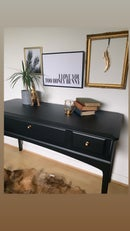 Image 2 of All black Stag mahogany desk/dressing table
