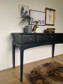 Image 3 of All black Stag mahogany desk/dressing table