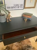 Image 4 of All black Stag mahogany desk/dressing table
