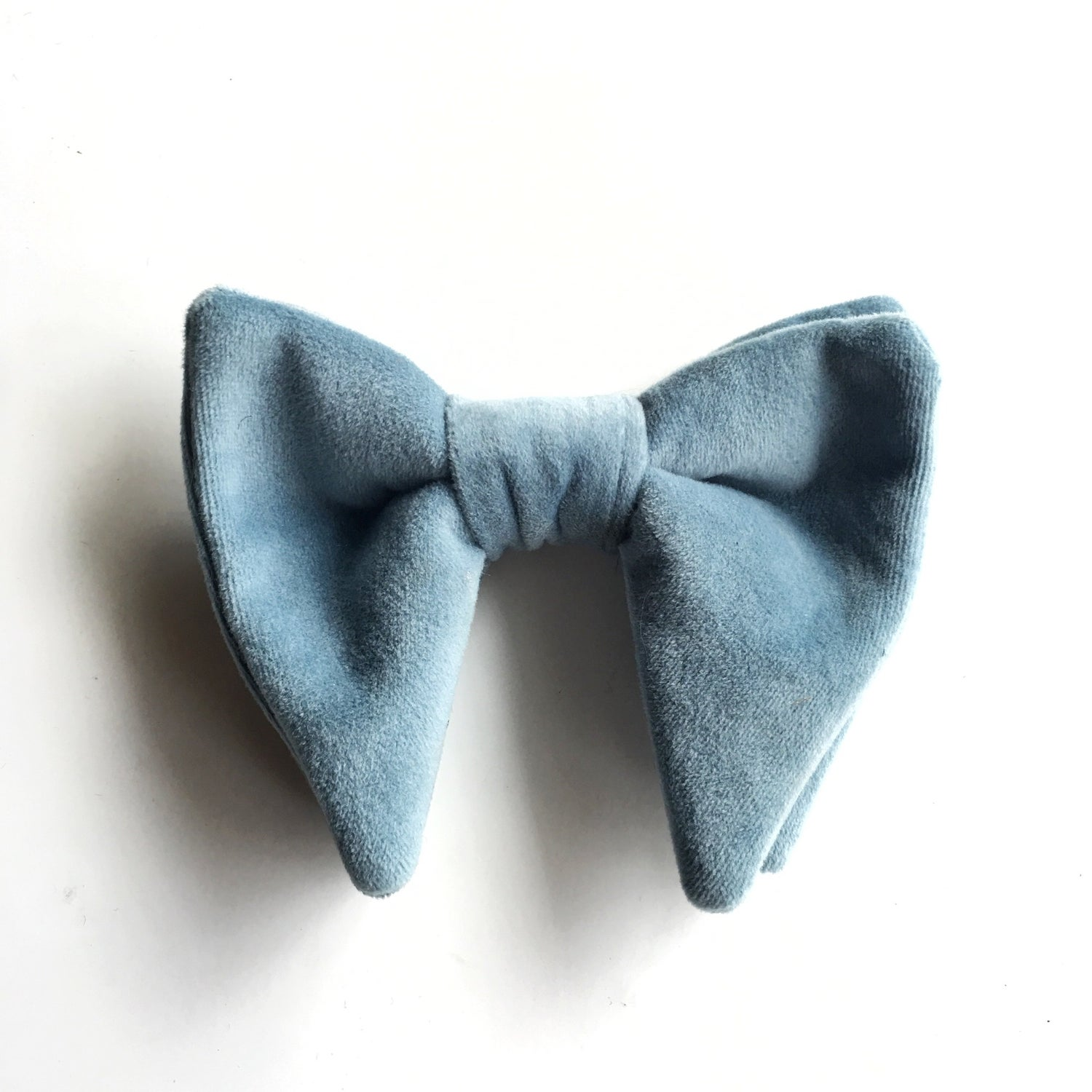 Image of VELVET POWDER BLUE | OVERSIZED EVENT BOWTIE