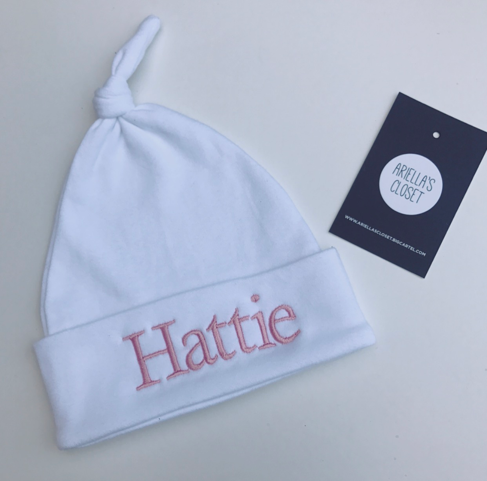 Image of Newborn Personalised Emroidered Hats