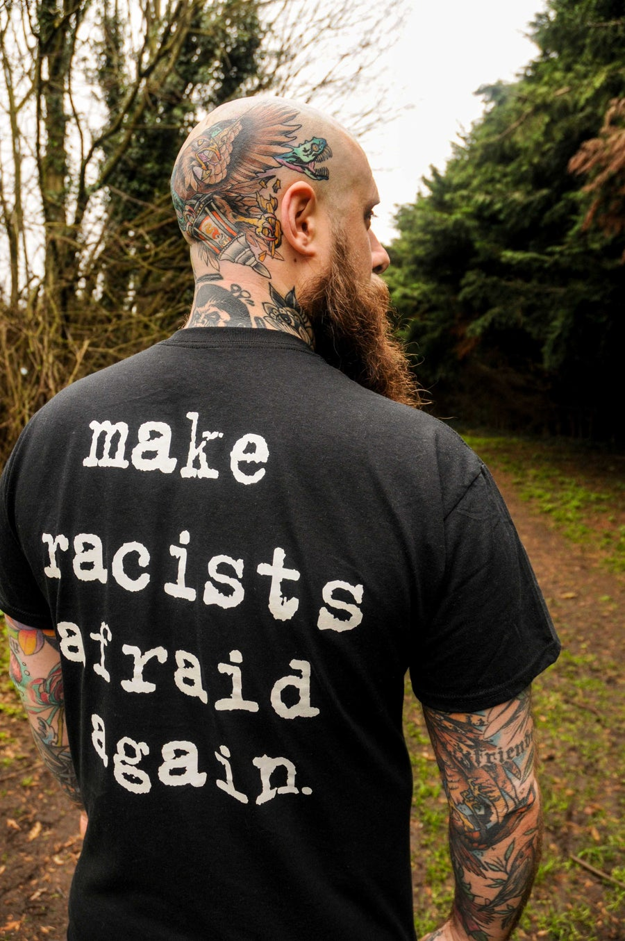 Image of Make Racists Afraid Again T-Shirt Black