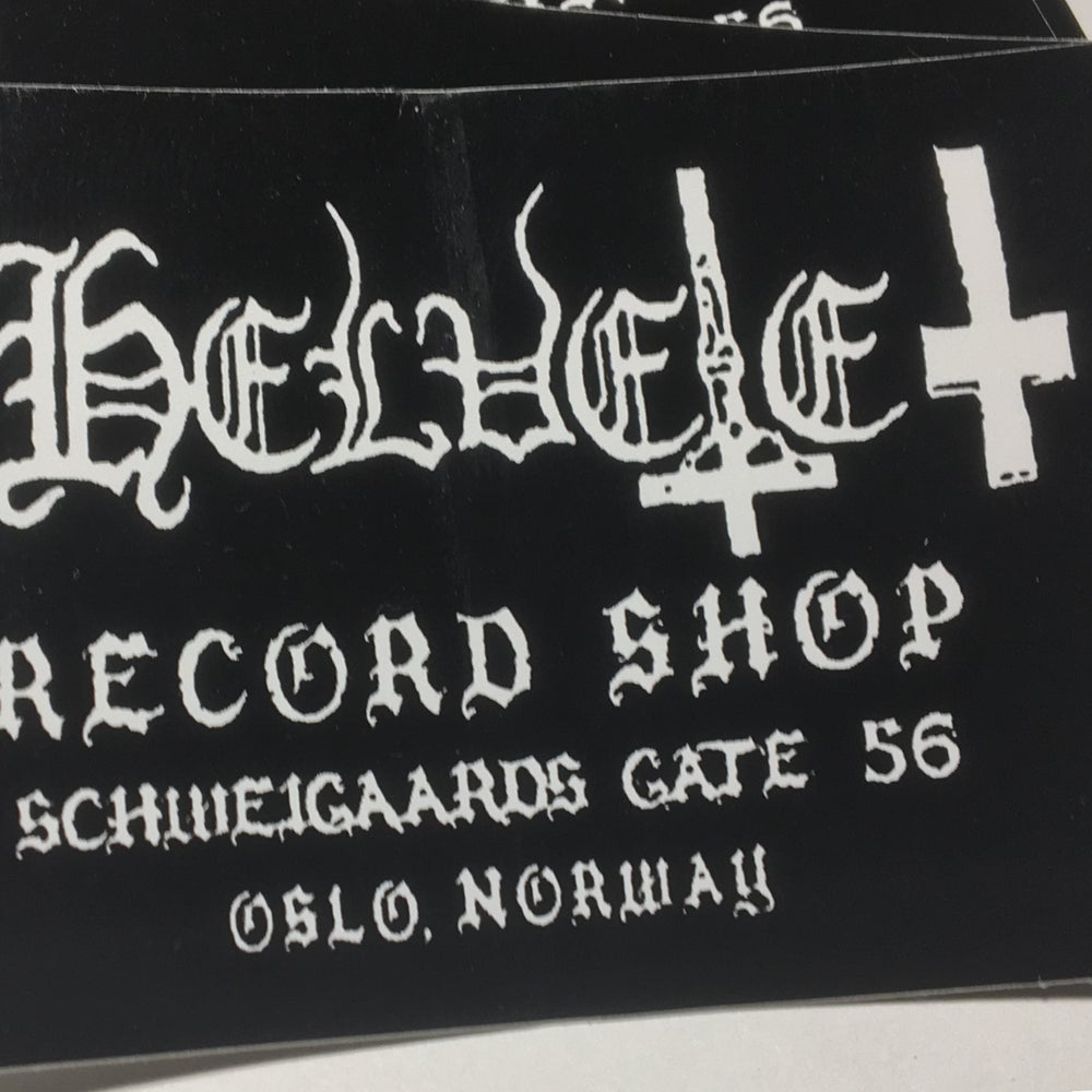 Image of RIP HELVETE SHOP STICKER