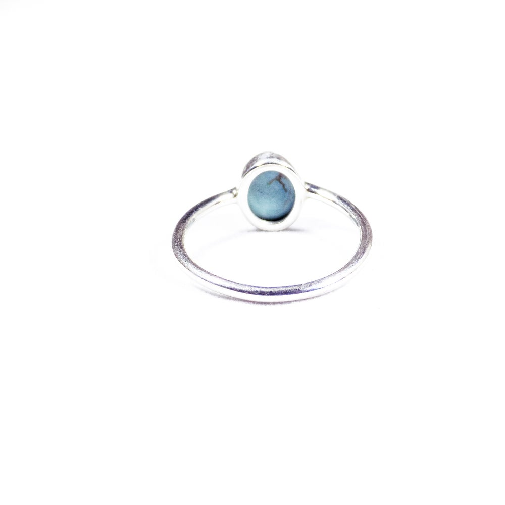 Image of Single Stone Turquoise Ring- silver