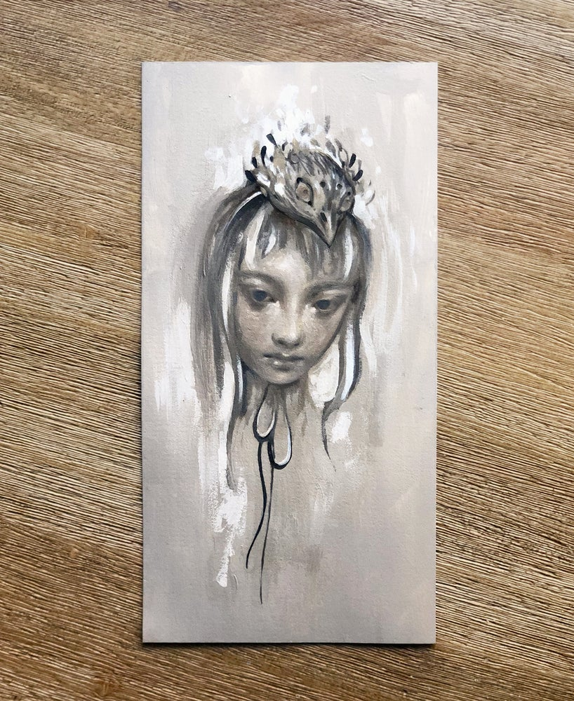 Image of oil sketch on paper