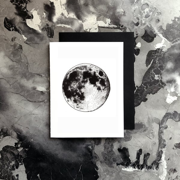 Image of Full Moon Card / Small Print
