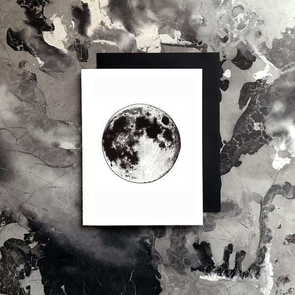Image of Full Moon Card / Small Print