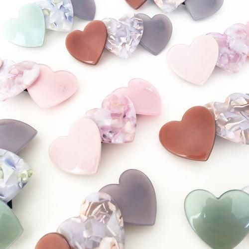 Image of Trio of Hearts - Barrette Hair Clip