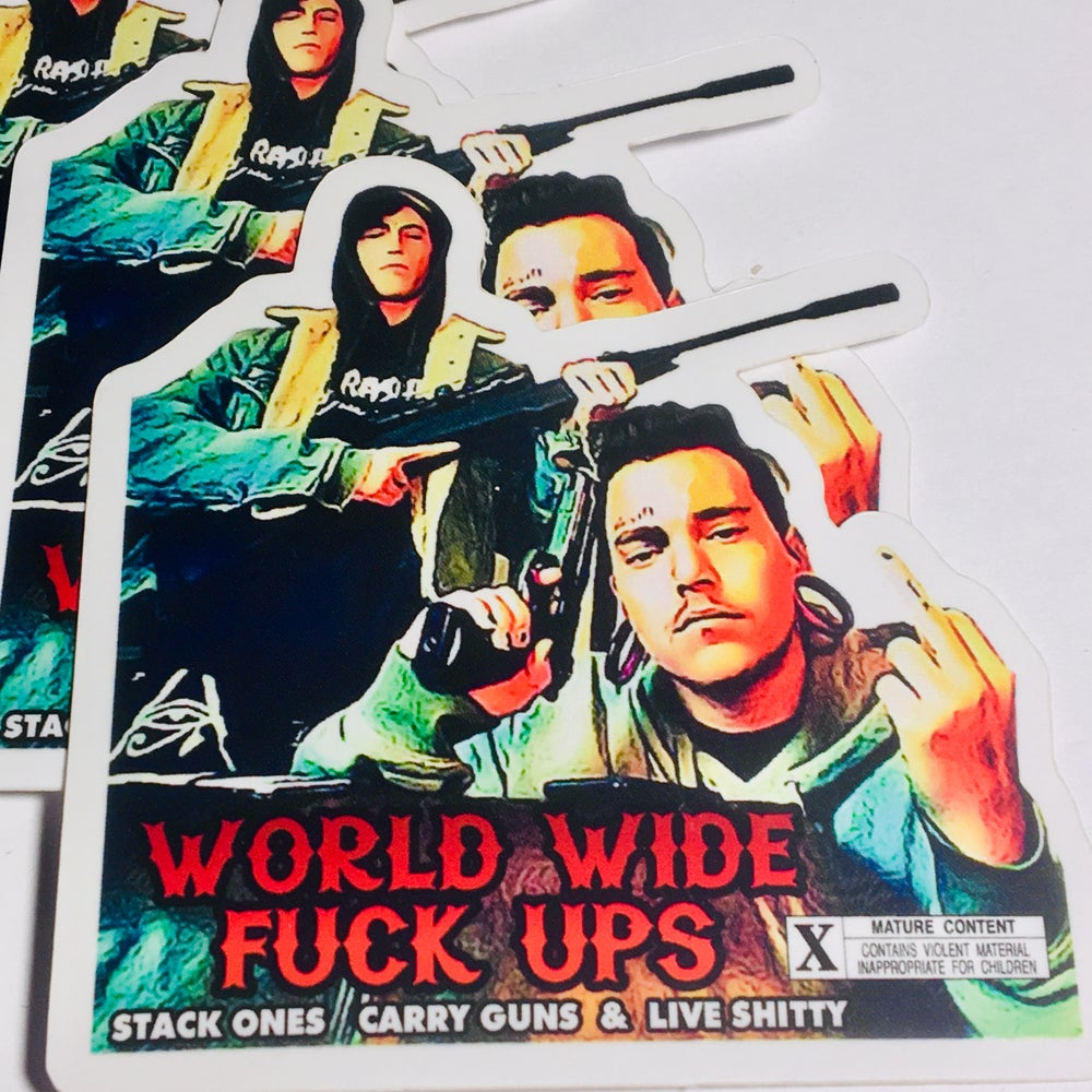 Image of WWFU MOVIE POSTER STICKER