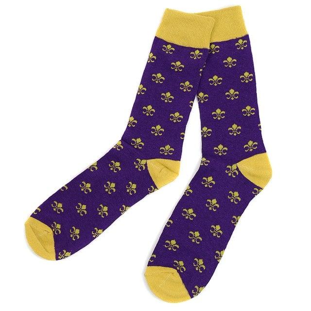 Image of Fleur De Lis Novelty Socks
