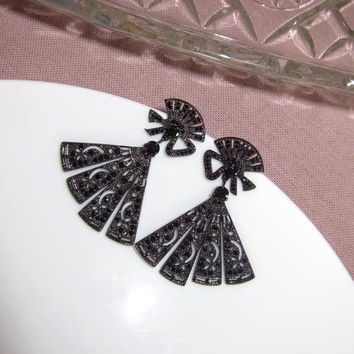 Image of Palais fan earrings