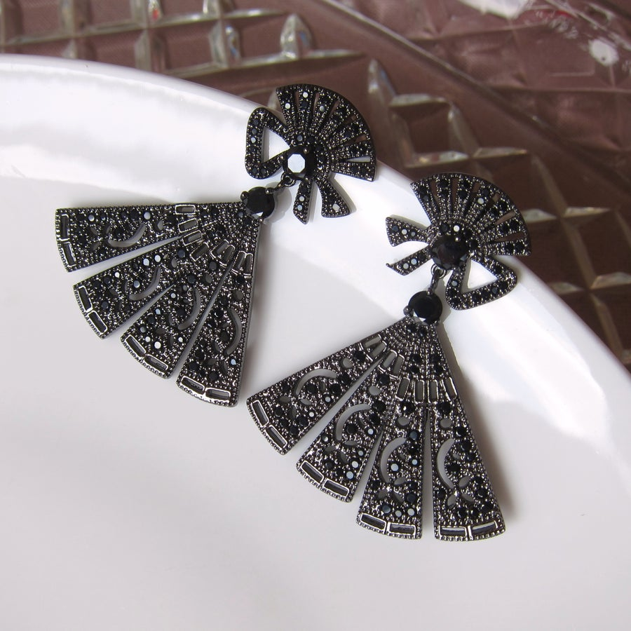Image of Palais fan earrings