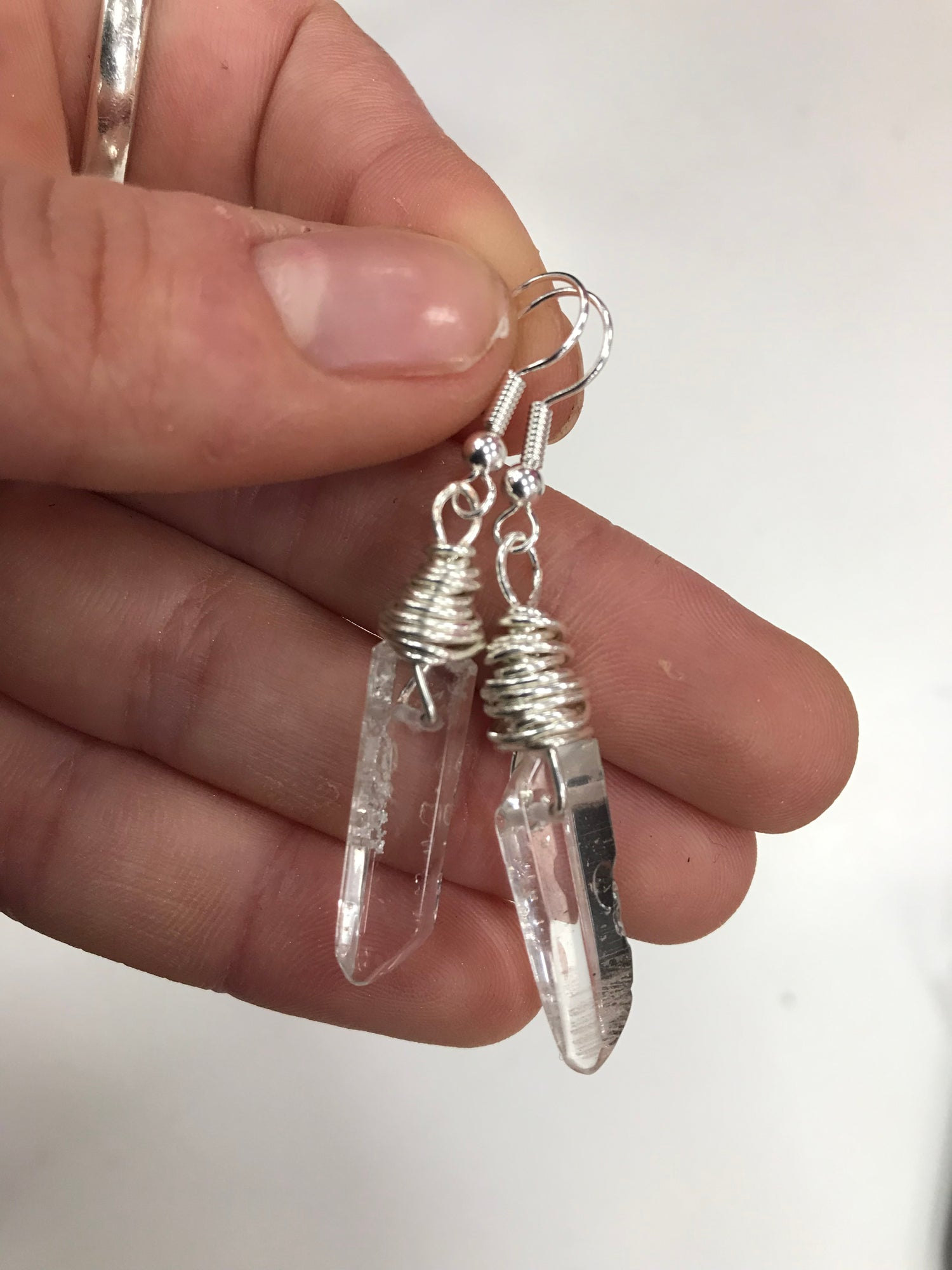 Image of FIRENZA Clear Quartz earrings