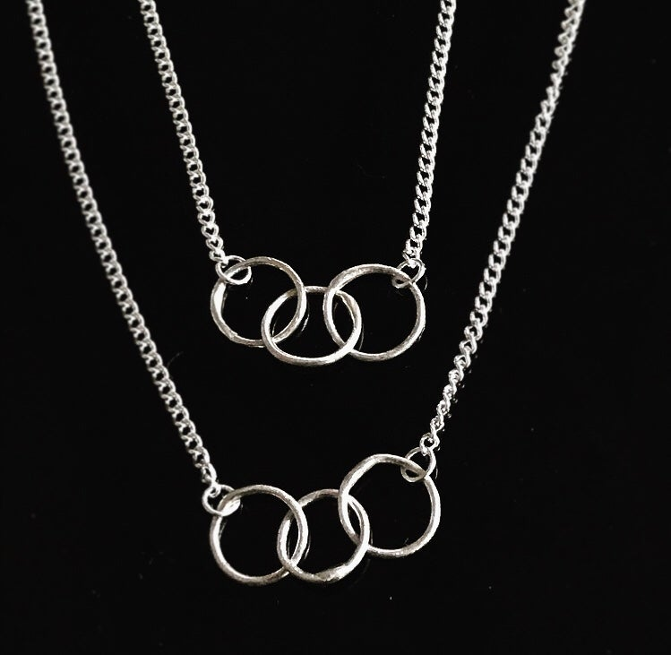 Image of FIRENZA interlocking eternity ring necklace
