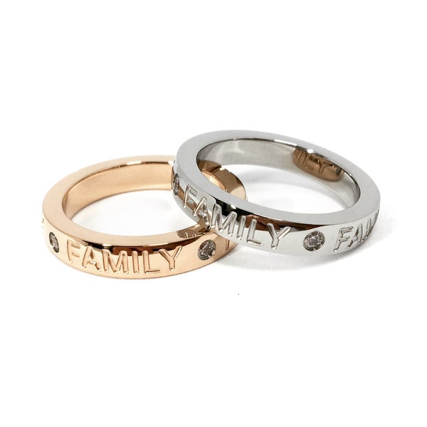 Image of Ring FAMILY silber / roségold