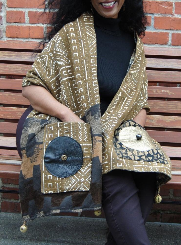 Image of Genuine Mud Cloth Shawl