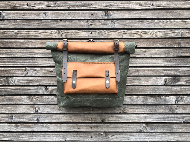 Image of Motorbike bag / Motorcycle bag / Bicycle bag in waxed canvas / Bike accessories