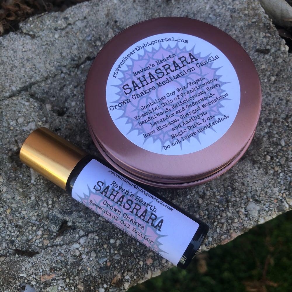 Image of SAHASRARA Crown Chakra Candle/Roller
