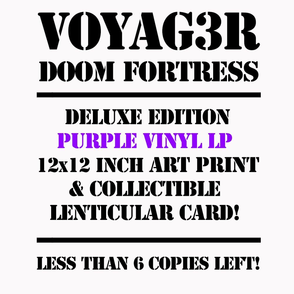 Image of Voyag3r - Doom Fortress - LP - TRANSLUCENT PURPLE VINYL PRESSING + Download Code