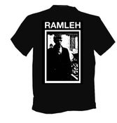Image of RAMLEH T-SHIRTS, ORIGINAL DESIGN, WHITE GLOW IN THE DARK PRINT ON BLACK SHIRT