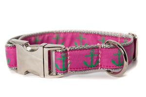 Image of Green Anchor on Hot Pink in the category  on Uncommon Paws.