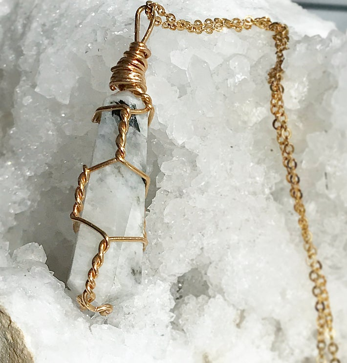 Image of FIRENZA Moonstone necklace