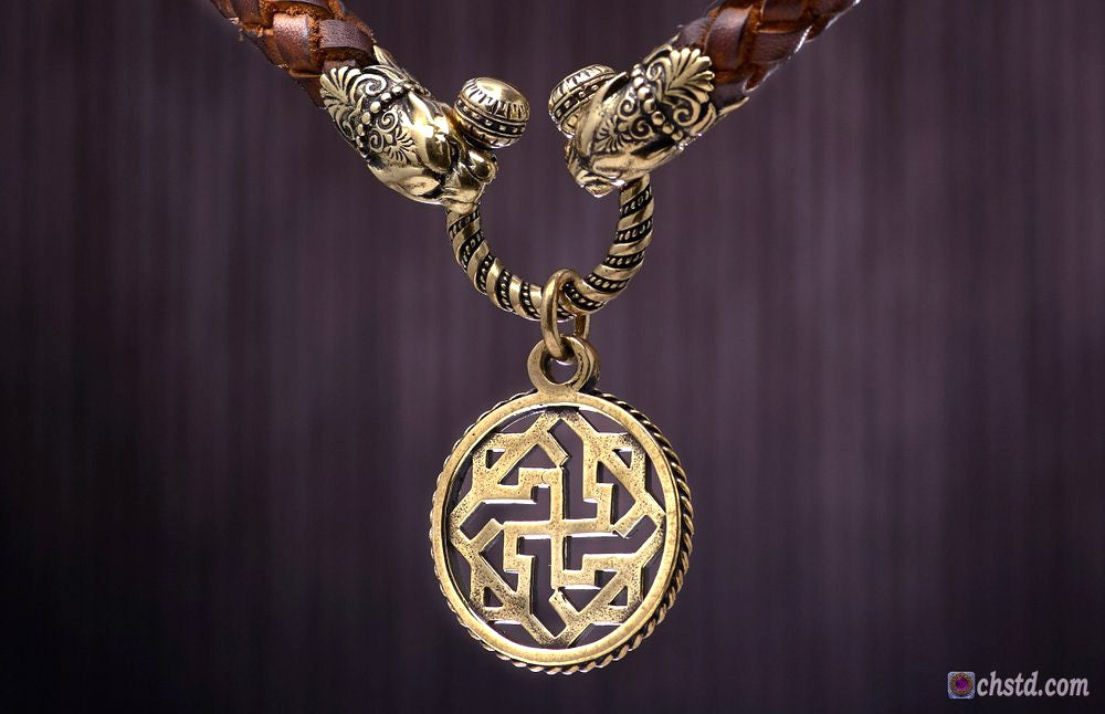 Image of VALKYRIE : Powerful Guardian - Leather Necklace