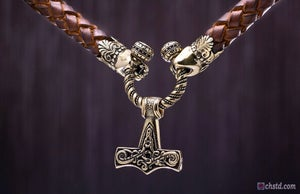 Image of Mjolnir :: Thor's Hammer - Leather Necklace