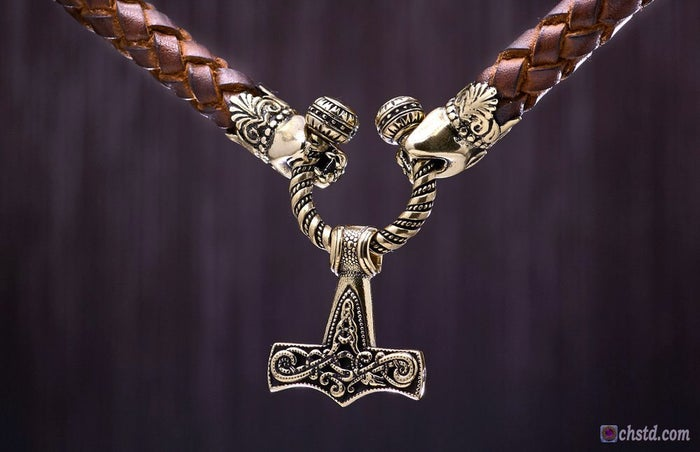 Mjolnir :: Thor's Hammer - Leather Necklace