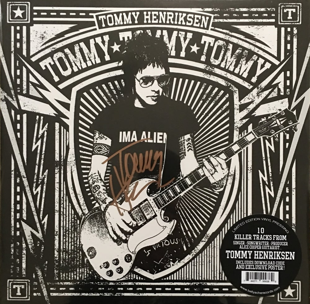 Image of Tommy Henriksen - Tommy Tommy Tommy - SIGNED LP