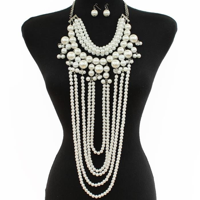 Image of PEARL NECKLACE SET