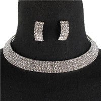 Image of RHINESTONE NECKLACE SET