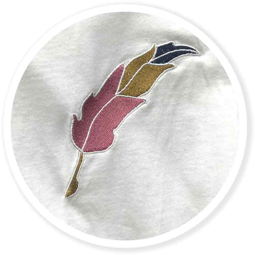 Image of Quill - Embroidered Tshirt