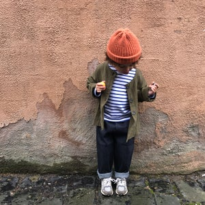 Image of Pippins - Toddler Jeans In Raw Indigo.