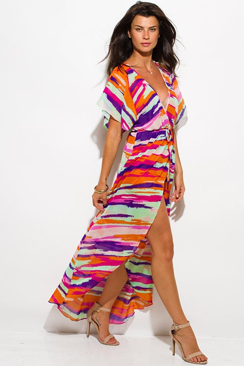 Image of MULTICOLORED PRINTED MAXI DRESS