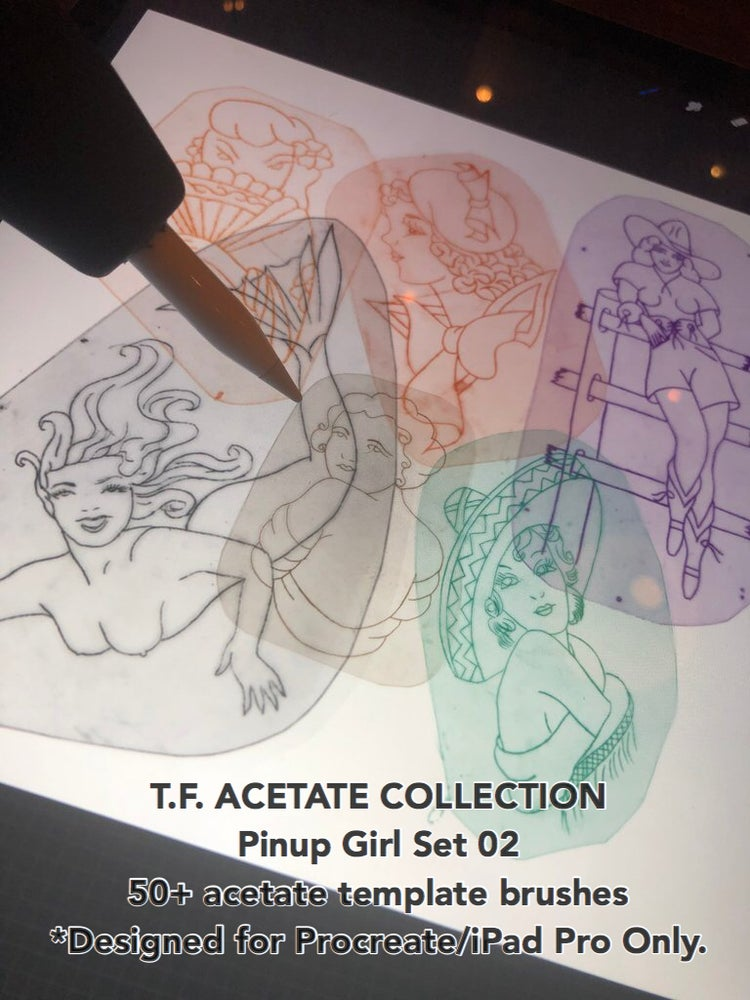Image of T.F. Acetate Collection: Pinups Set 2. ONLY FOR PROCREATE & IPAD PRO