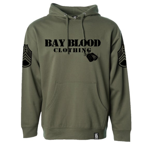 Image of First Blood Hoodie (military green/black)