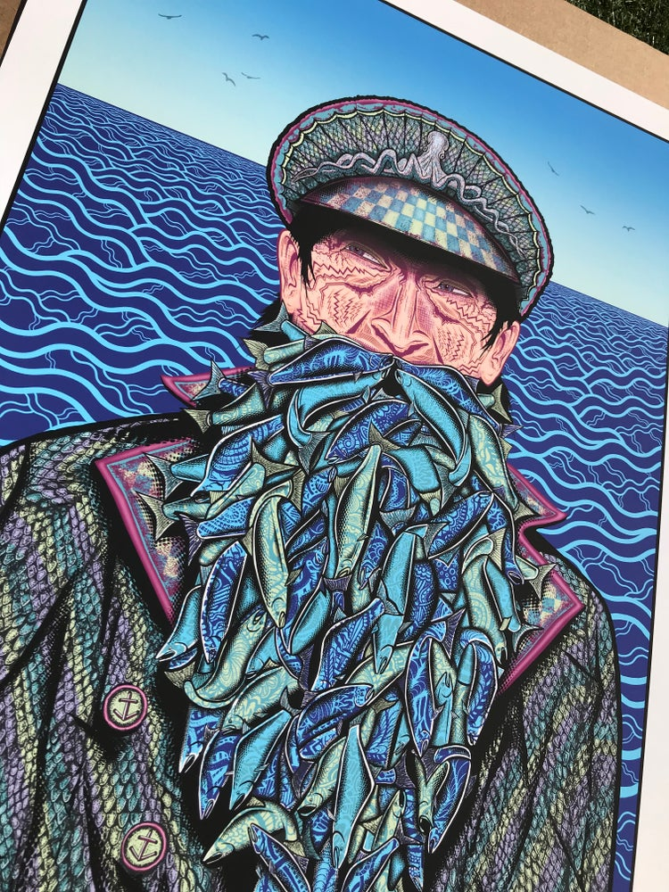 "Image of ""Fish on"" - Blue Variant of 50"