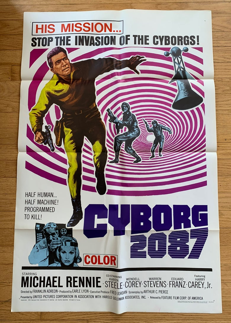Image of 1966 CYBORG 2087 Original U.S. One Sheet Movie Poster
