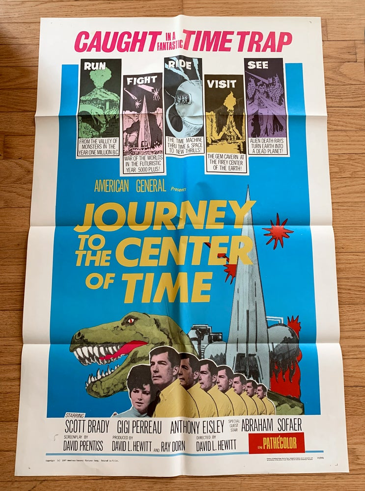 Image of 1967 JOURNEY TO THE CENTER OF TIME Original U.S. One Sheet Movie Poster