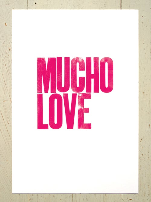 Image of Mucho Love A4 art prints